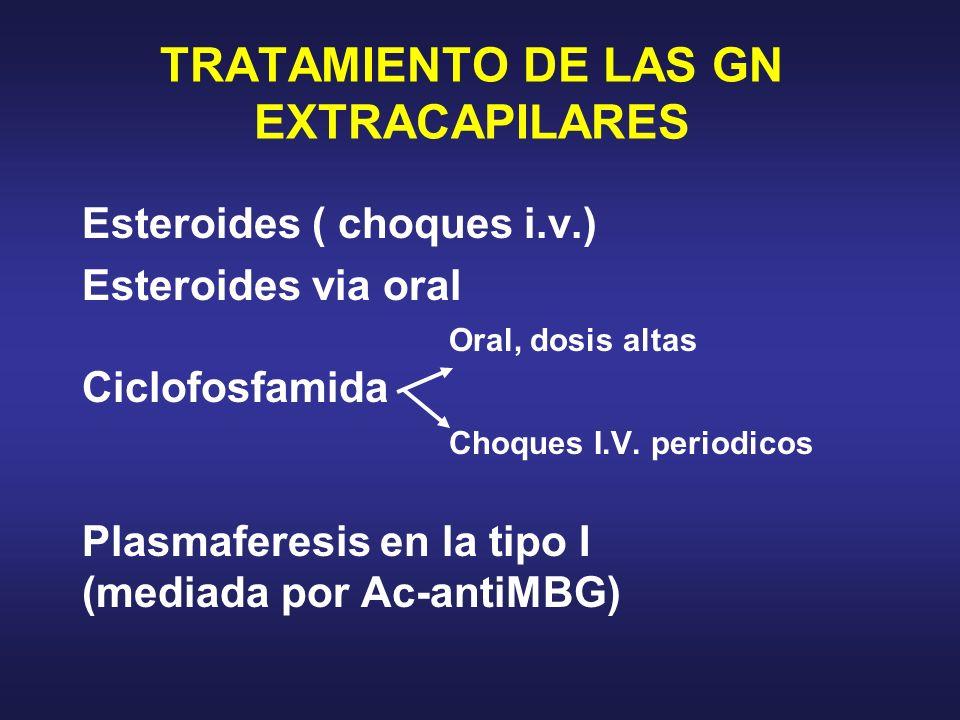 TRATAMIENTO DE LAS GN EXTRACAPILARES