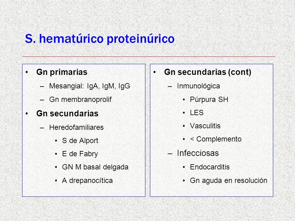 S. hematúrico proteinúrico