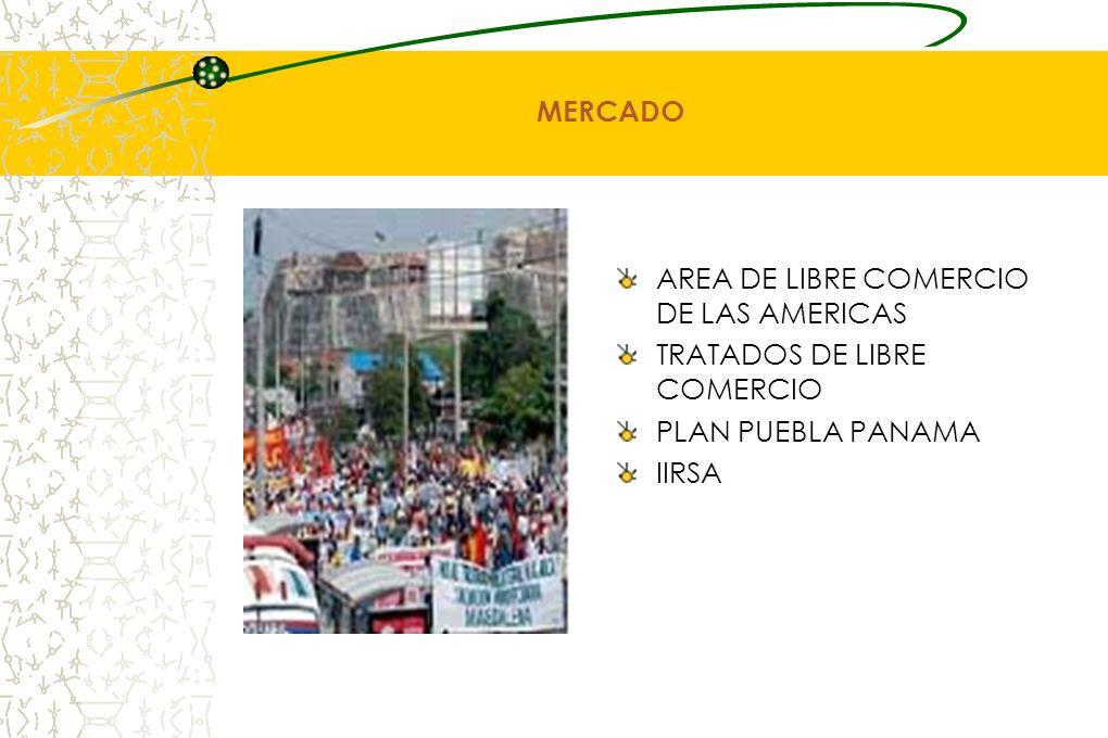 MERCADO AREA DE LIBRE COMERCIO DE LAS AMERICAS TRATADOS DE LIBRE COMERCIO PLAN PUEBLA PANAMA IIRSA