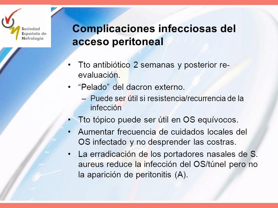 Complicaciones infecciosas del acceso peritoneal