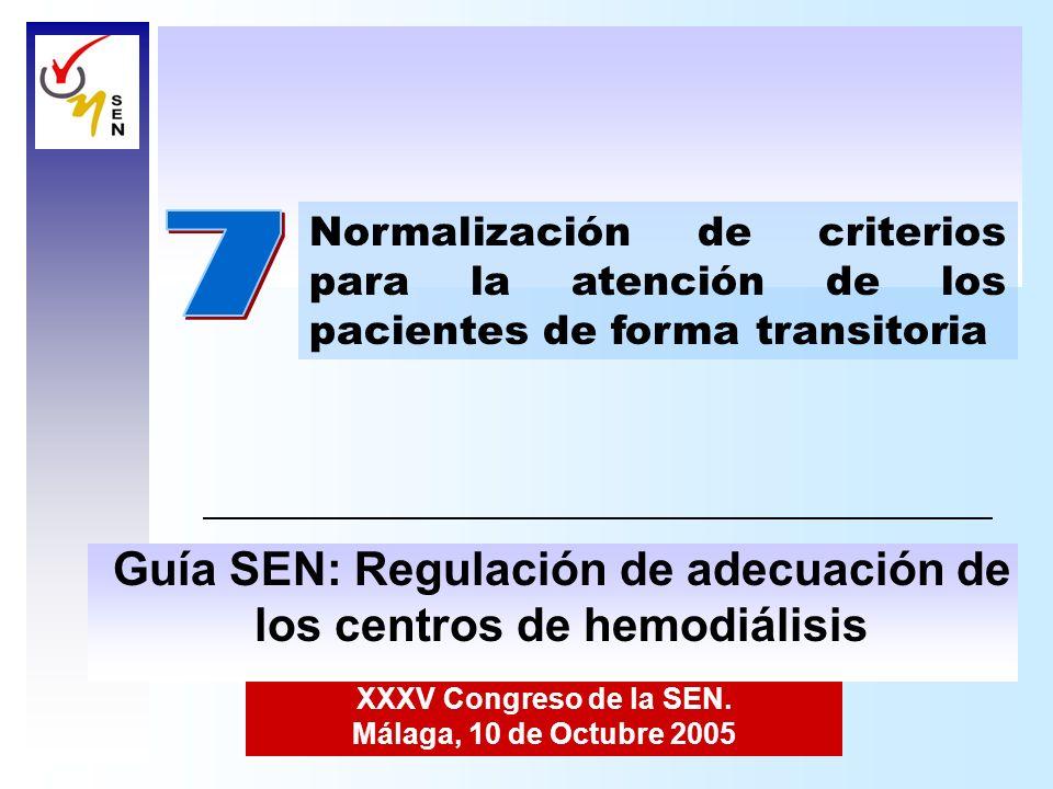 7 Guía SEN: Regulación de adecuación de los centros de hemodiálisis