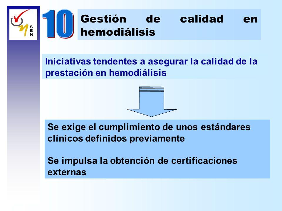 10 Gestión de calidad en hemodiálisis