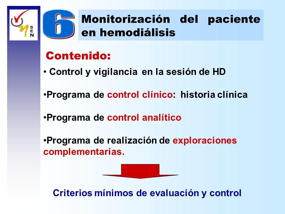 6 Monitorización del paciente en hemodiálisis Contenido: