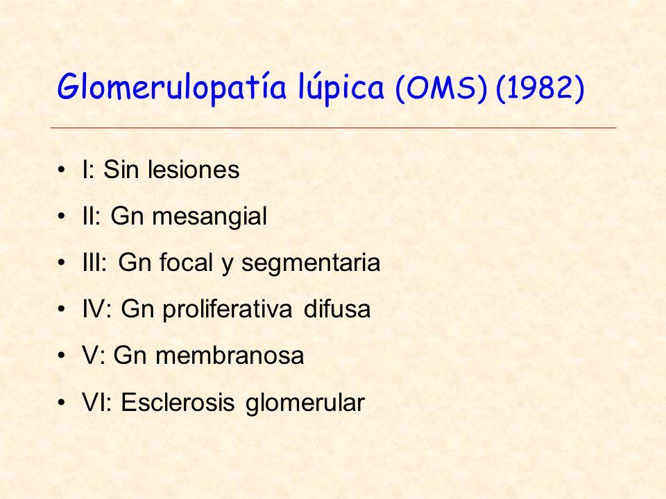 Glomerulopatía lúpica (OMS) (1982)