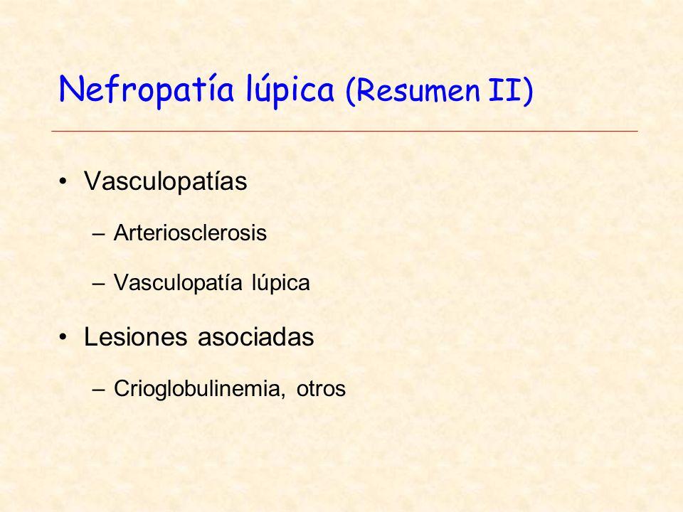 Nefropatía lúpica (Resumen II)