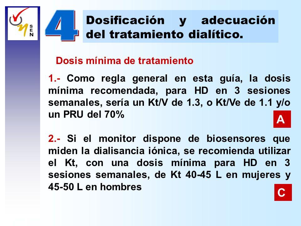 4 Dosificación y adecuación del tratamiento dialítico. A C