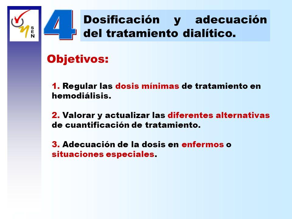 4 Dosificación y adecuación del tratamiento dialítico. Objetivos: