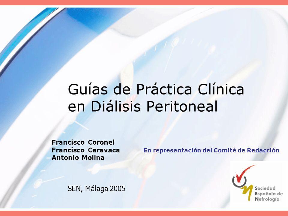 Guías de Práctica Clínica en Diálisis Peritoneal