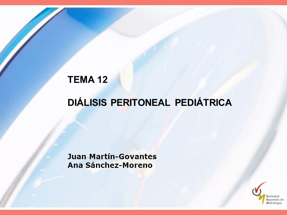 TEMA 12 DIÁLISIS PERITONEAL PEDIÁTRICA