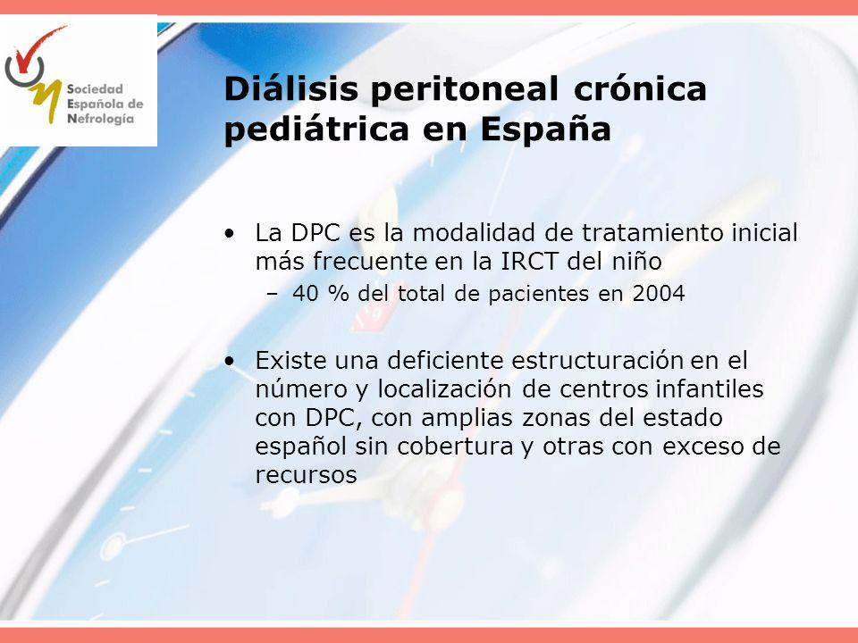 Diálisis peritoneal crónica pediátrica en España