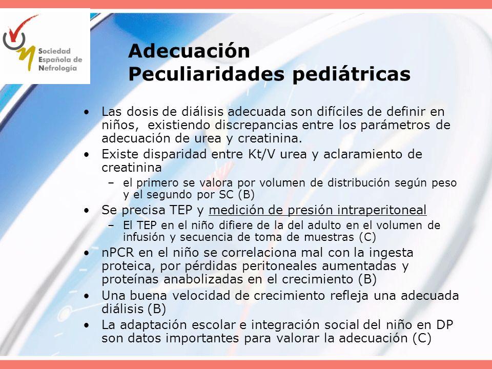 Adecuación Peculiaridades pediátricas