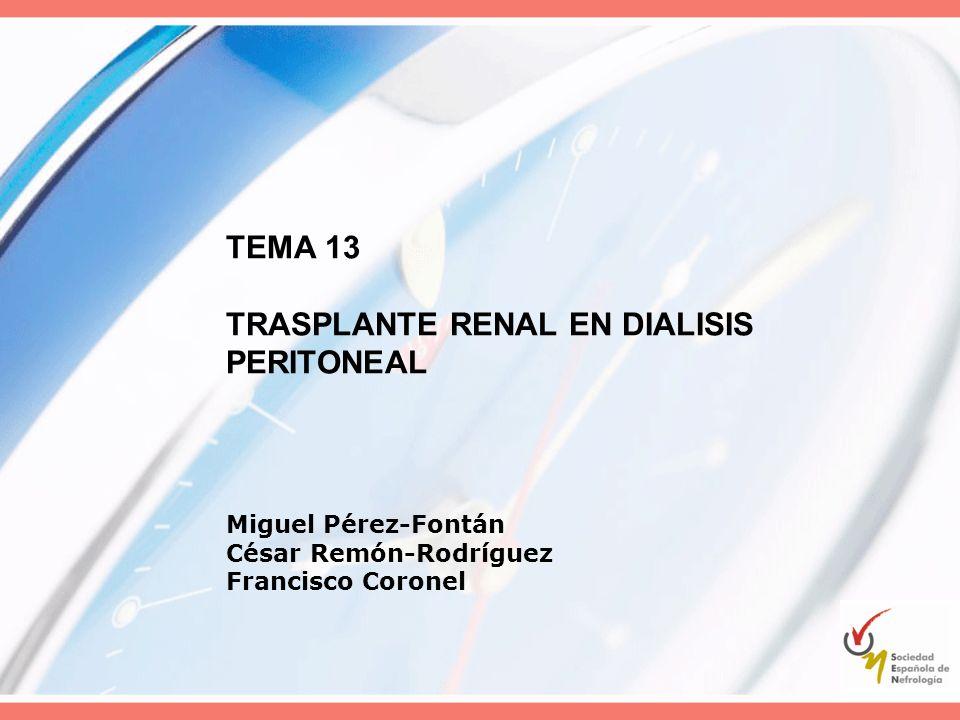 TEMA 13 TRASPLANTE RENAL EN DIALISIS PERITONEAL