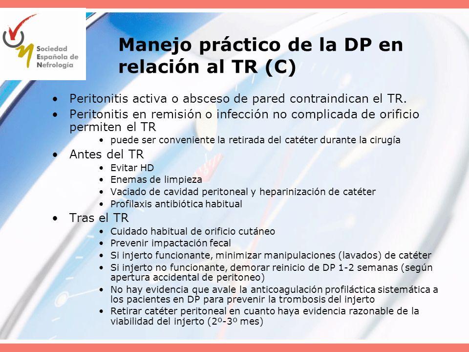 Manejo práctico de la DP en relación al TR (C)