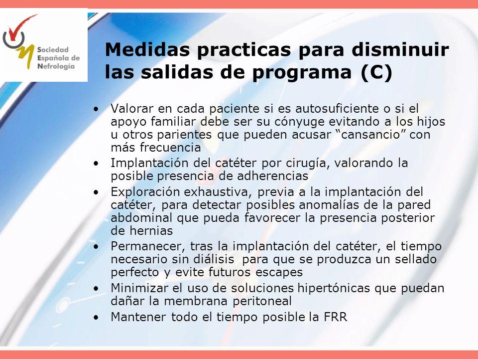Medidas practicas para disminuir las salidas de programa (C)
