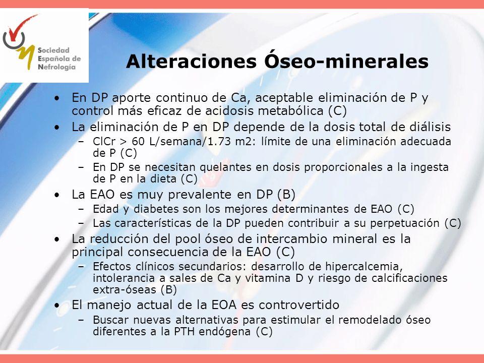 Alteraciones Óseo-minerales