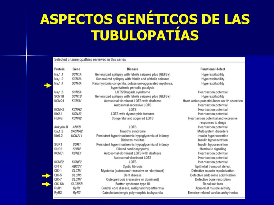 ASPECTOS GENÉTICOS DE LAS TUBULOPATÍAS