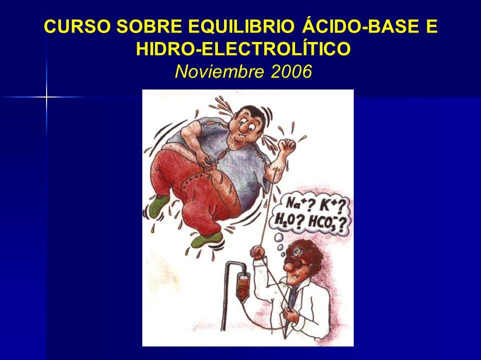 CURSO SOBRE EQUILIBRIO ÁCIDO-BASE E
