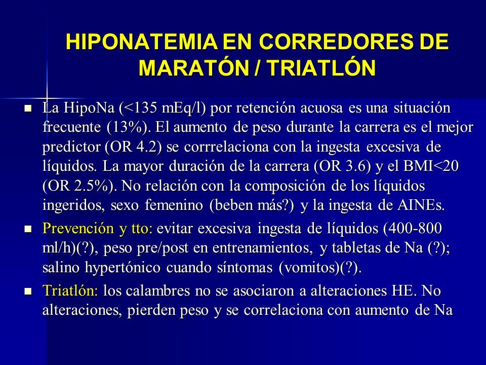 HIPONATEMIA EN CORREDORES DE MARATÓN / TRIATLÓN