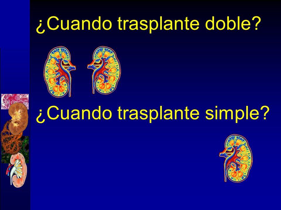 ¿Cuando trasplante doble