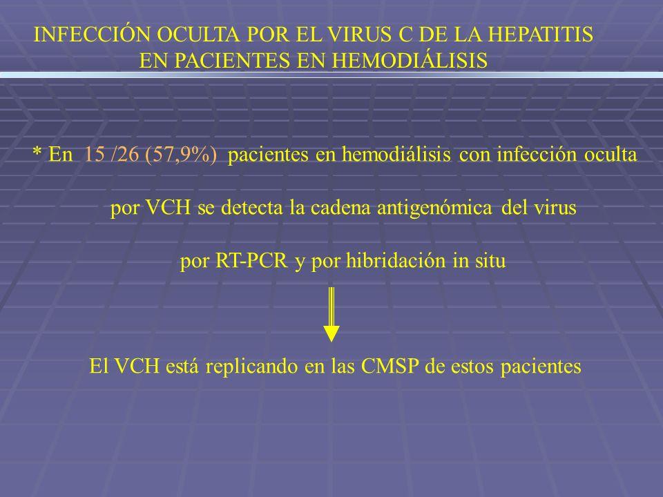 INFECCIÓN OCULTA POR EL VIRUS C DE LA HEPATITIS