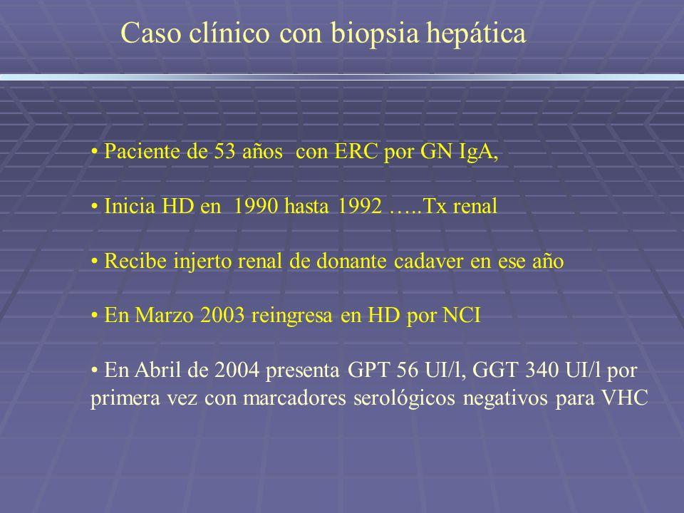 Caso clínico con biopsia hepática