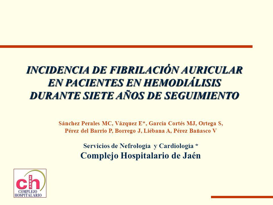 INCIDENCIA DE FIBRILACIÓN AURICULAR EN PACIENTES EN HEMODIÁLISIS DURANTE SIETE AÑOS DE SEGUIMIENTO