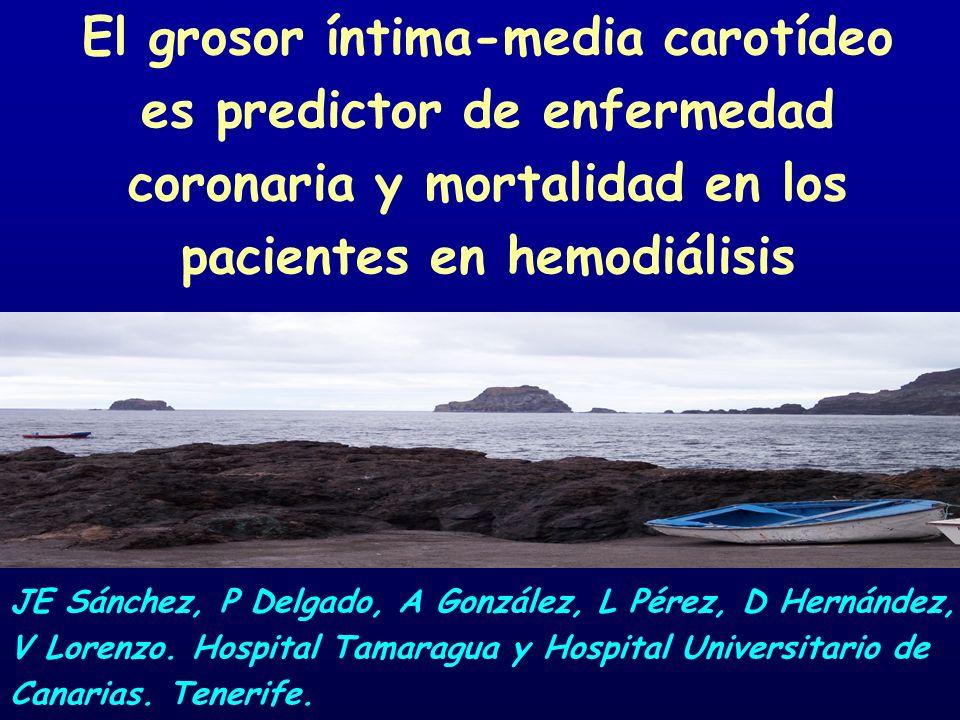 El grosor íntima-media carotídeo es predictor de enfermedad coronaria y mortalidad en los pacientes en hemodiálisis