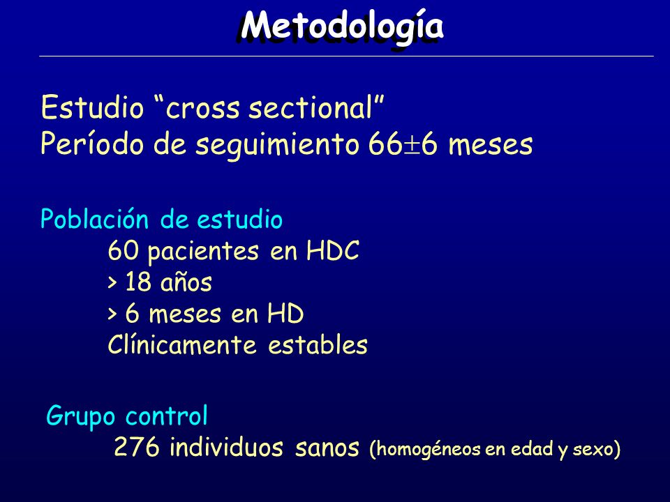 Metodología Estudio cross sectional