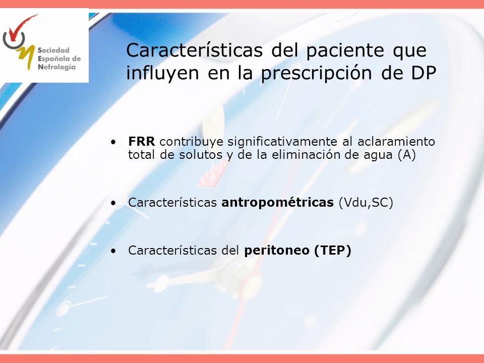 Características del paciente que influyen en la prescripción de DP