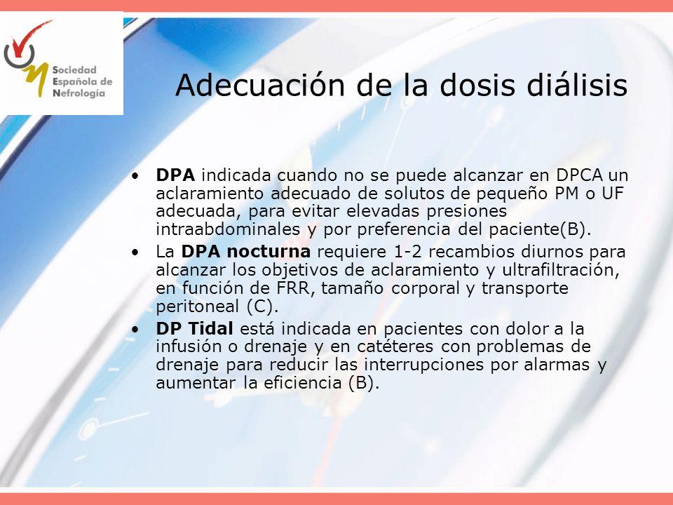 Adecuación de la dosis diálisis