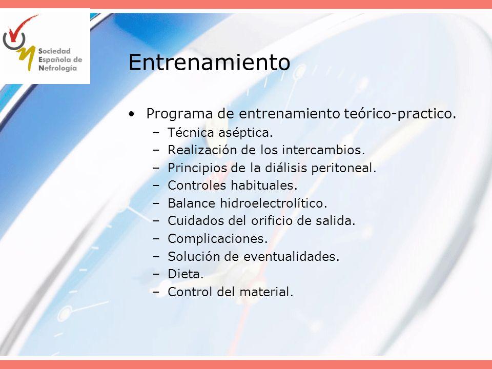 Entrenamiento Programa de entrenamiento teórico-practico.