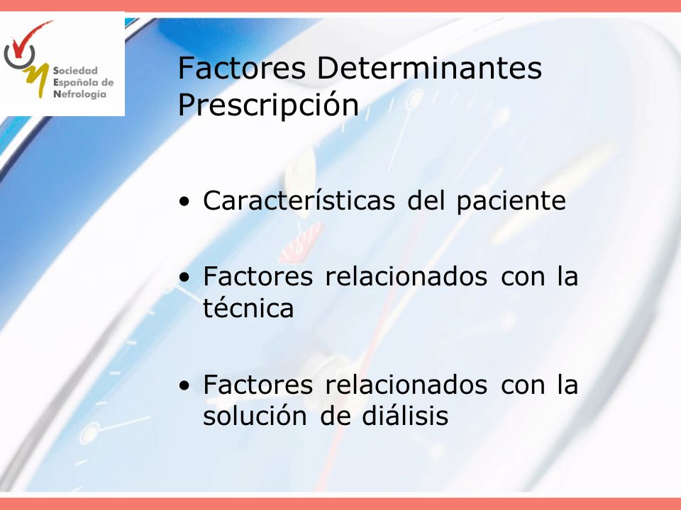 Factores Determinantes Prescripción