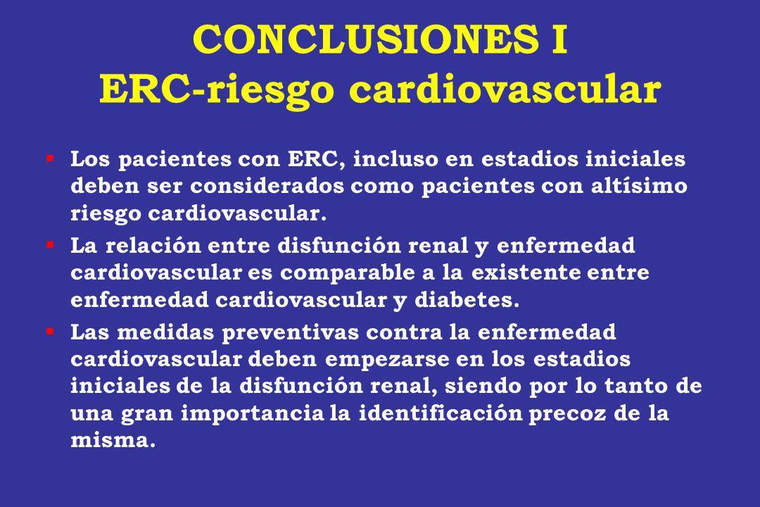 CONCLUSIONES I ERC-riesgo cardiovascular