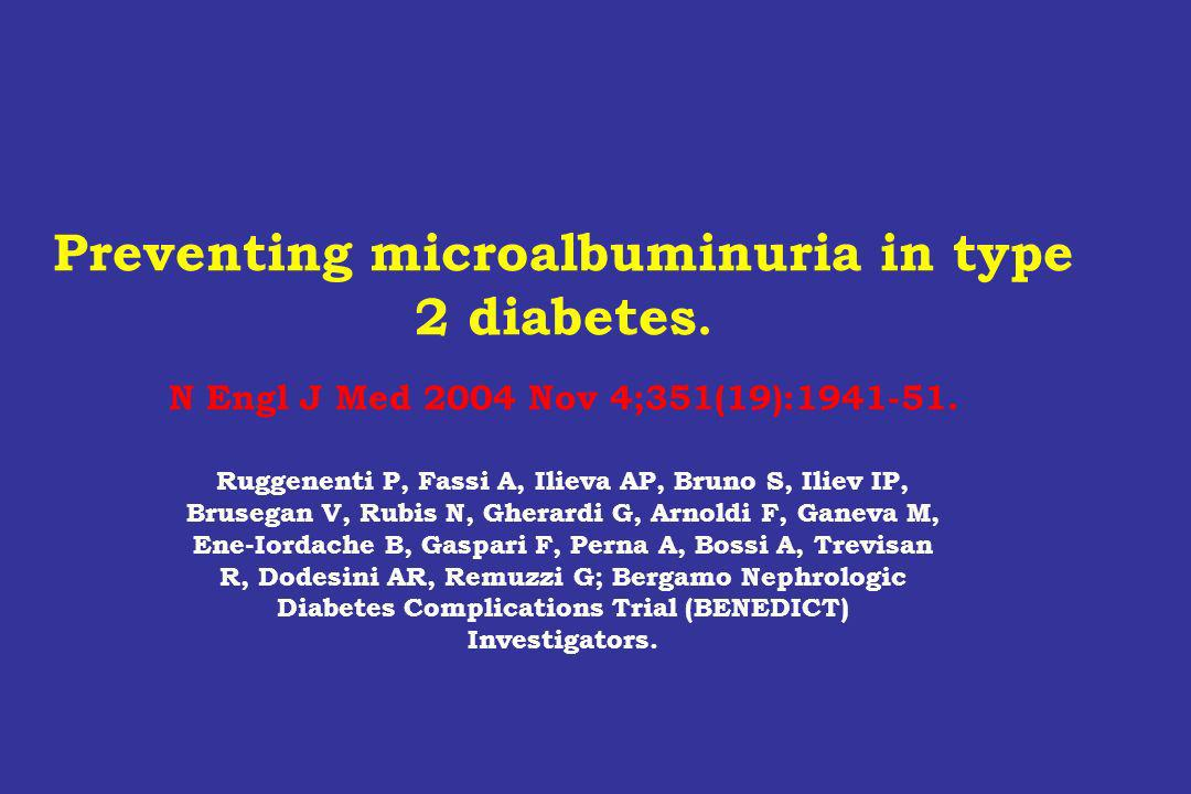 Preventing microalbuminuria in type 2 diabetes