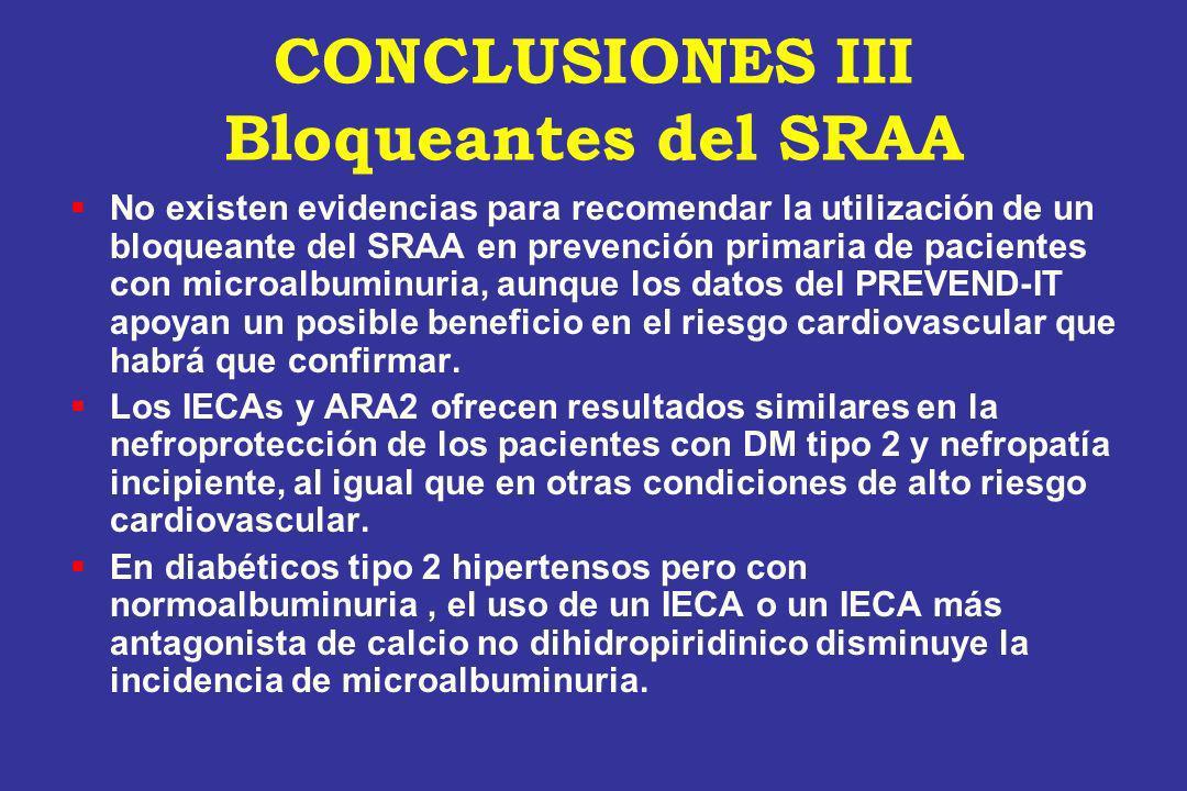 CONCLUSIONES III Bloqueantes del SRAA