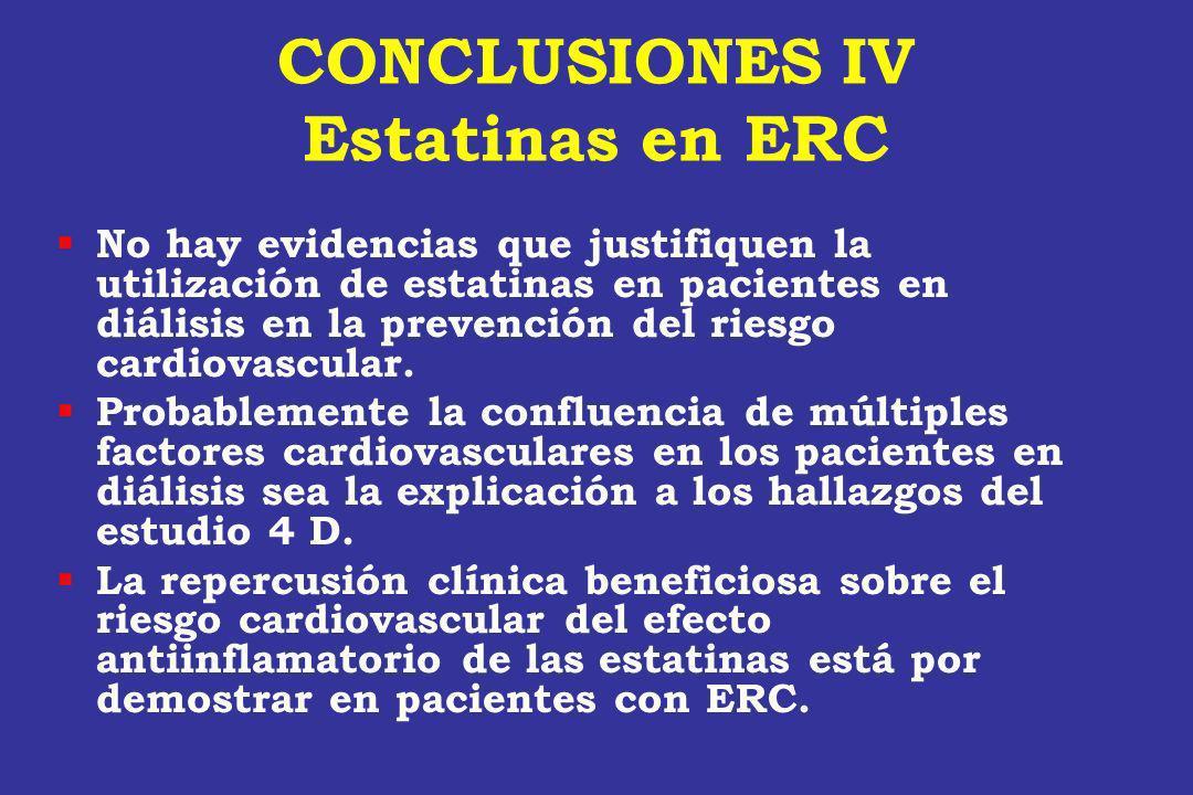 CONCLUSIONES IV Estatinas en ERC