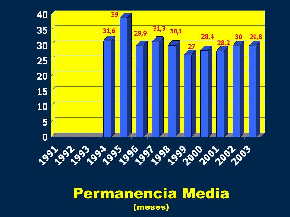 Permanencia Media (meses)