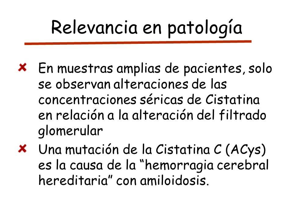 Relevancia en patología