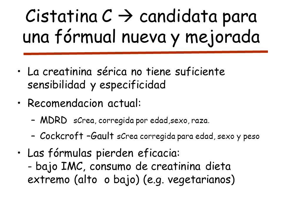 Cistatina C  candidata para una fórmual nueva y mejorada