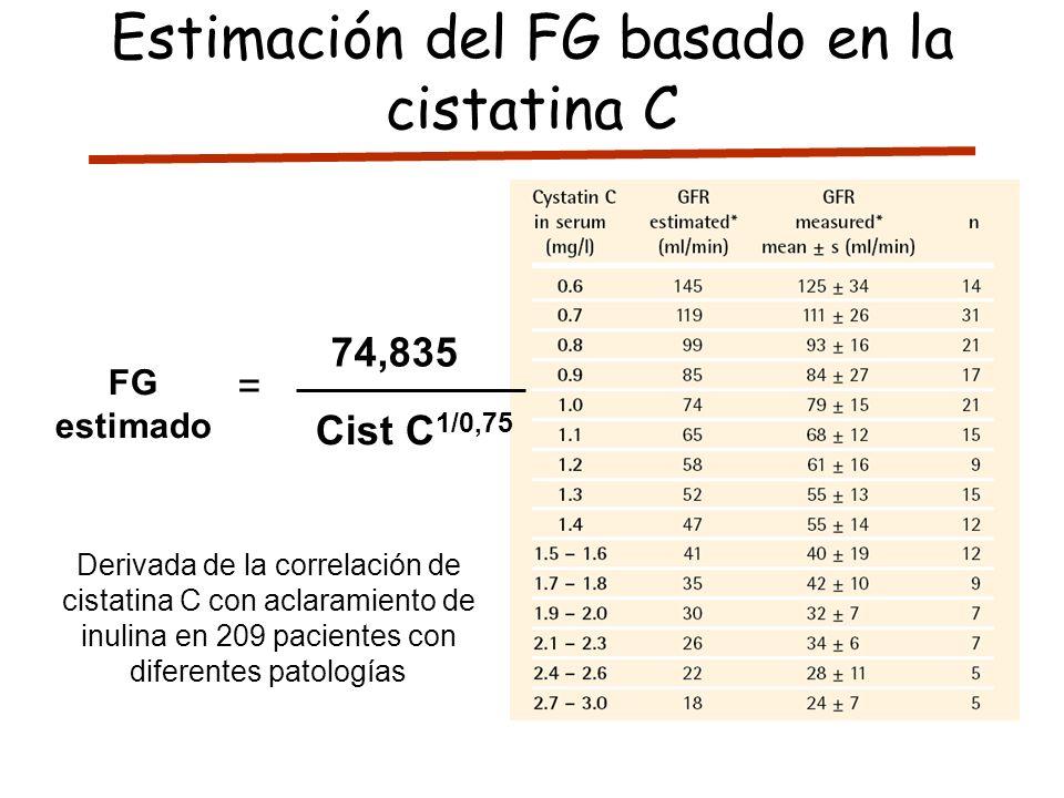 Estimación del FG basado en la cistatina C