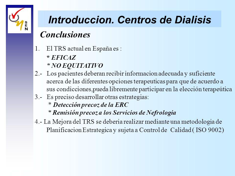 Introduccion. Centros de Dialisis