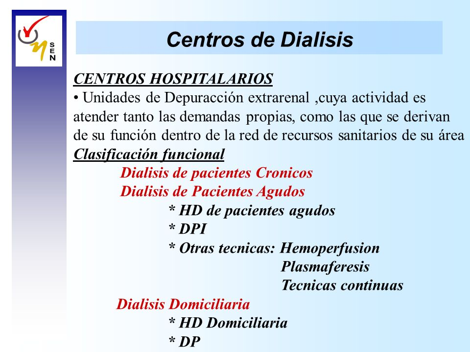 Centros de Dialisis CENTROS HOSPITALARIOS