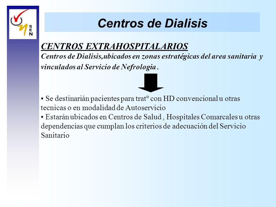 Centros de Dialisis CENTROS EXTRAHOSPITALARIOS