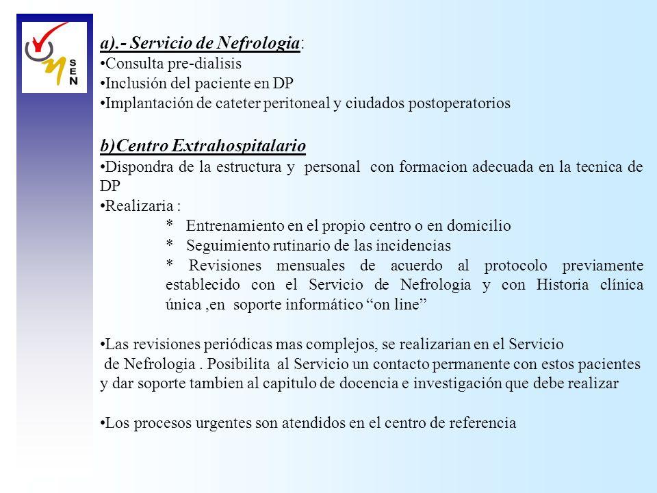 a).- Servicio de Nefrologia: