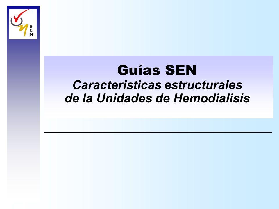 Caracteristicas estructurales de la Unidades de Hemodialisis