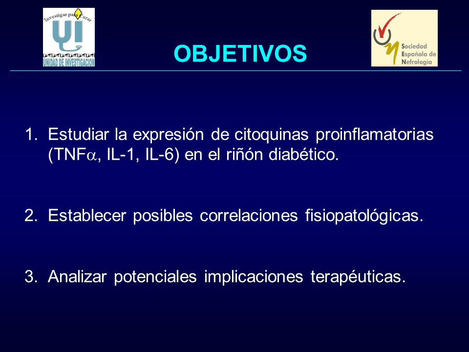 OBJETIVOS Estudiar la expresión de citoquinas proinflamatorias