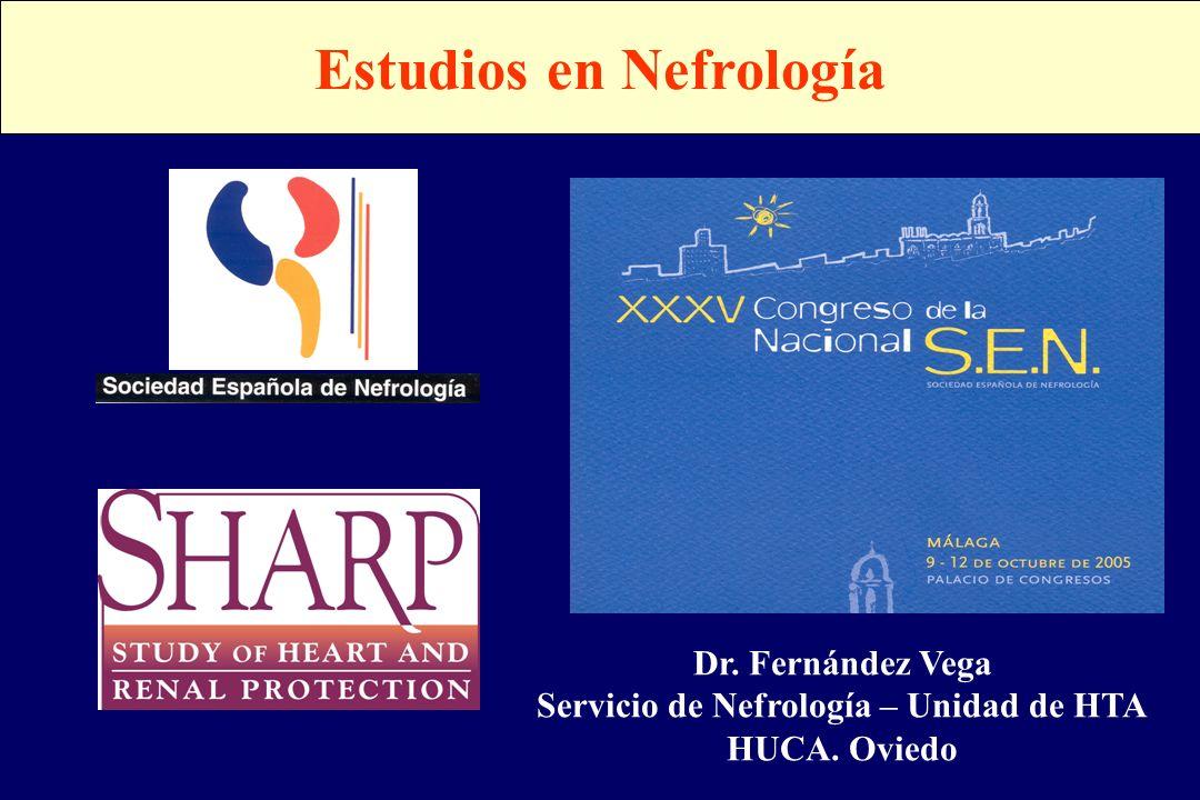 Estudios en Nefrología Servicio de Nefrología – Unidad de HTA