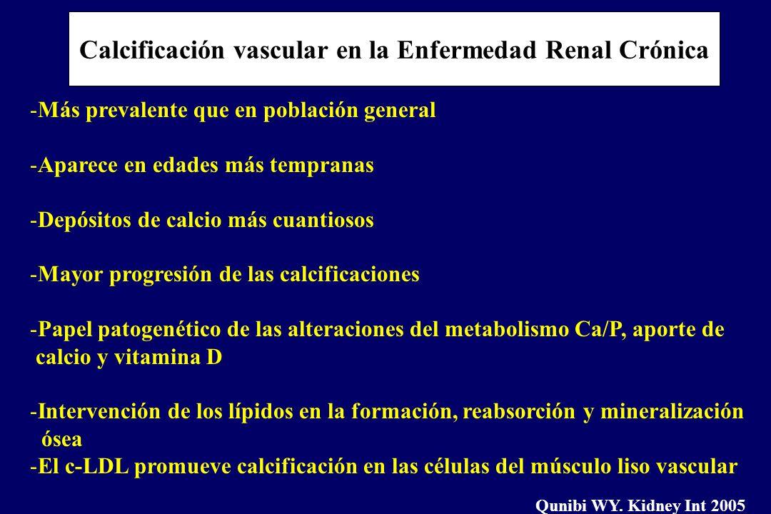 Calcificación vascular en la Enfermedad Renal Crónica