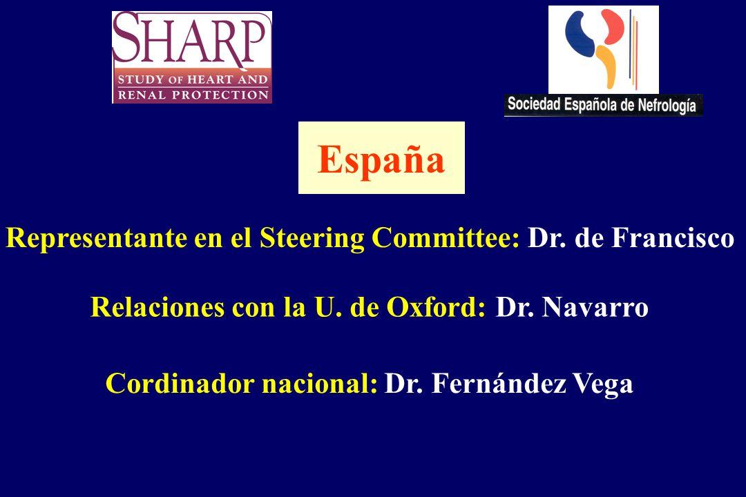 España Representante en el Steering Committee: Dr. de Francisco