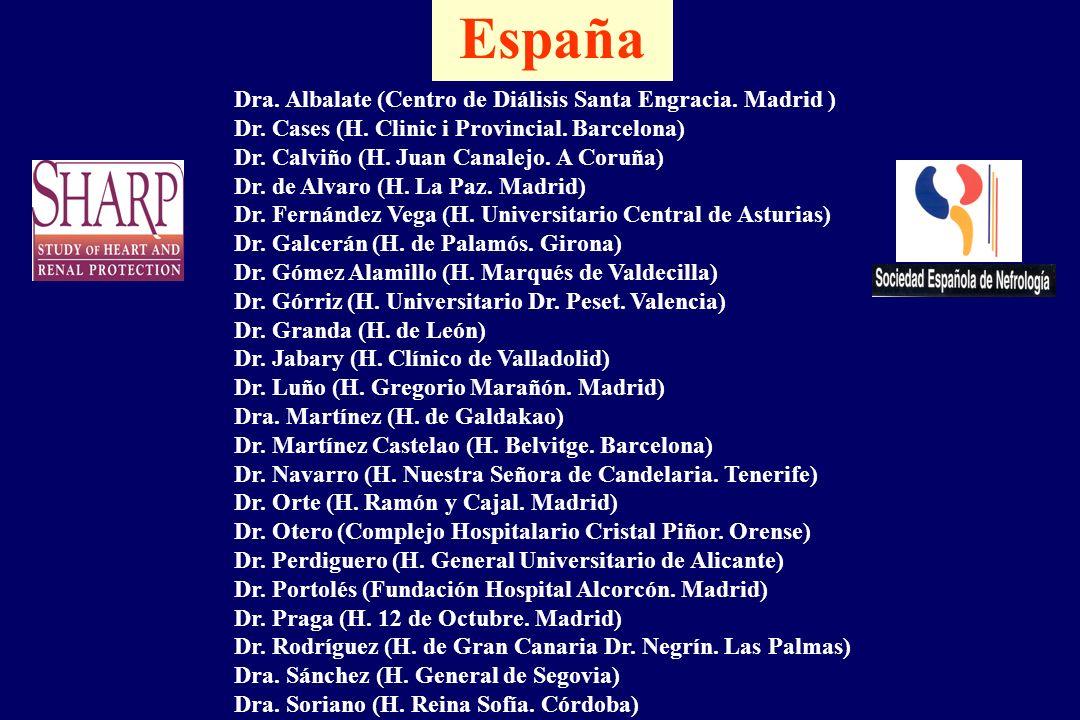 España Dra. Albalate (Centro de Diálisis Santa Engracia. Madrid )
